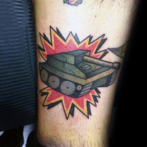 tank tattoos men armored vehicle ink ideas