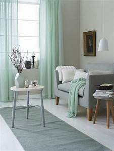 Salon Vert De Gris : deco menthe a l eau vert pastel gris decoration interieur ~ Melissatoandfro.com Idées de Décoration