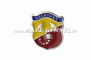Abarth Emblem Crest 22 X 26 Mm  To Stick