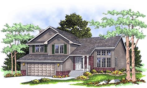 Contemporary Split Level House Plan