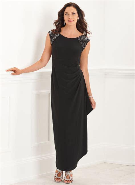 Side Drape Dress - side drape dress boutique