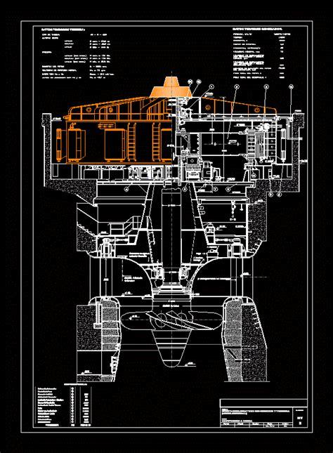 turbines  generators kaplan turbine dwg plan  autocad designs cad
