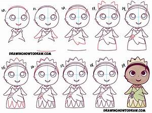 How to Draw Cute Baby Chibi Kawaii Tiana the Disney ...