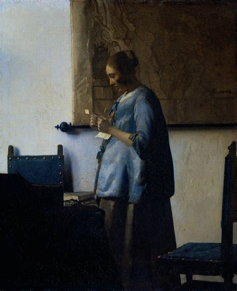 in blue reading a letter webmuseum vermeer jan in blue reading a letter 25664