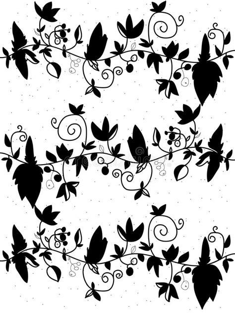 zwart witte bloemen vector illustratie illustratie bestaande uit bloemen 50338494