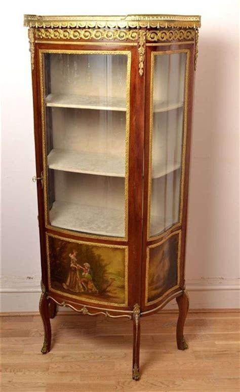 Antique French Vernis Martin Cabinet Vitrine At 1stdibs