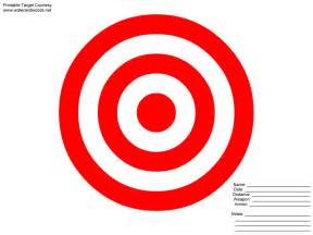 free printable targets water and woods