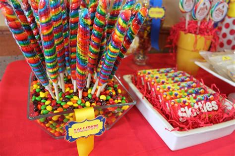 Bright Candy Buffet Rainbow Colors Pinterest