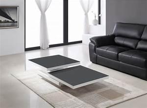 Table Basse Blanc Gris : table basse pivotante ocean laquee blanc et verre gris table basse topkoo ~ Teatrodelosmanantiales.com Idées de Décoration