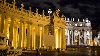 Gifs Vatican Landmarks Basilica Europe Palace Night