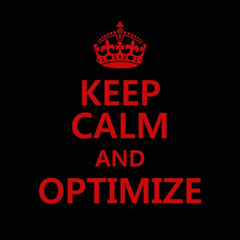 Keep Calm And Optimize  Doug Douglas