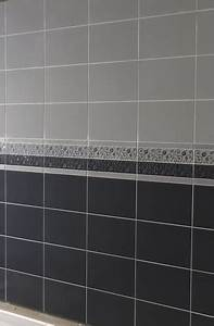 carrelage mural de salle de bain gris et noir photo 5 10 With brico carrelage salle de bain
