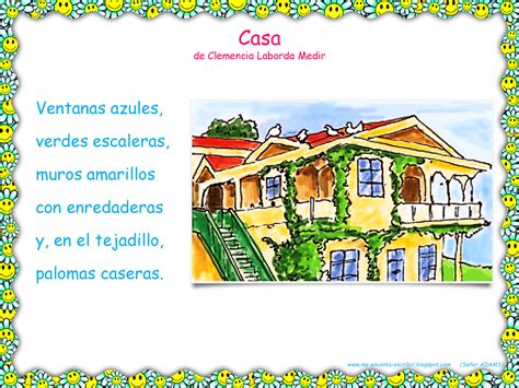 La Casa Poeta by Me Encanta Escribir En Espa 241 Ol Poema Casa De Clemencia