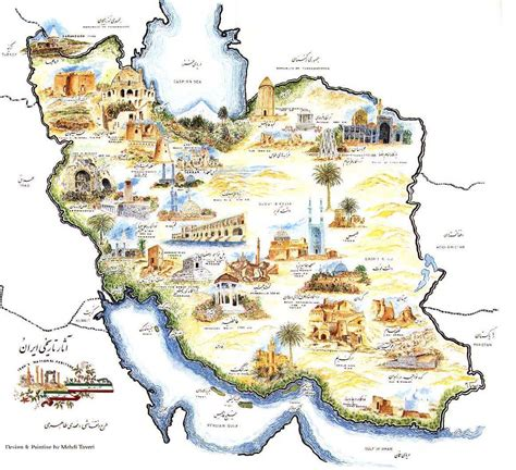 iran map iran travel information
