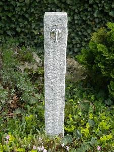 Steckdosen Im Garten : wasserzapfstelle aus grauem granit free standing outdoor tap wasserzapfs ulen und ~ Orissabook.com Haus und Dekorationen