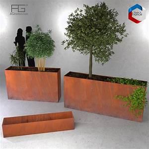 Bac à Fleurs : bac plantes et jardini re corten agtrema ~ Teatrodelosmanantiales.com Idées de Décoration