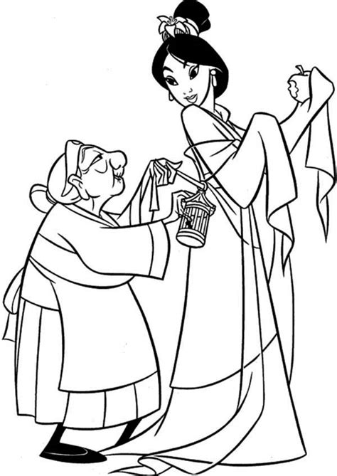mulan coloring pages getcoloringpagescom