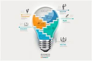 Business Lightbulb Infographics
