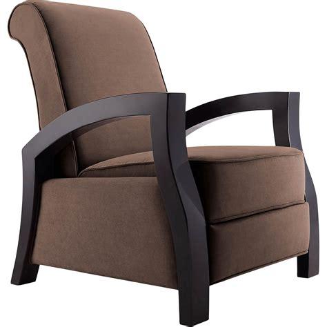 artiva kuta microvelvet wood arm recliner chairs