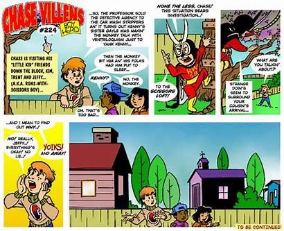 Comic Strip Chase Villens Web Archived Sampling