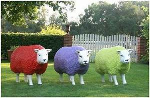 Objet Deco Original : statue mouton cliquez syma mobilier jardin objet de deco original statue de jardin ~ Teatrodelosmanantiales.com Idées de Décoration