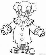 Clown Coloring Scary Evil Printable Goosebumps Killer Face Joker Drawing Clowns Drawings Draw Cool2bkids Line Getdrawings Getcolorings Sheets Cartoon Simple sketch template