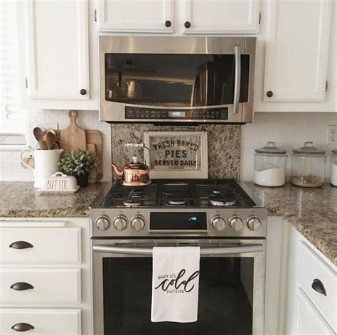 farmhouse kitchen counter decor farmhouse kitchen the countertop range backsplash Farmhouse Kitchen Counter Decor