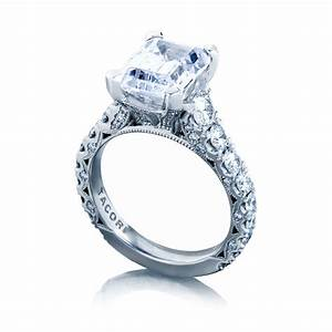 Tacori engagement rings royalt solitaire emerald cut for Wedding rings tacori