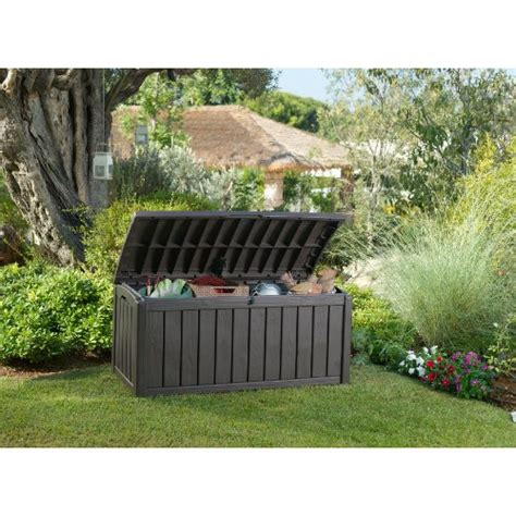keter glenwood deck box keter glenwood outdoor patio furniture 101 gallon plastic