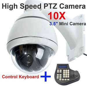 Sony 700tvl High Speed Dome Camera Outdoor Ptz 10x Zoom   Keyboard Controller