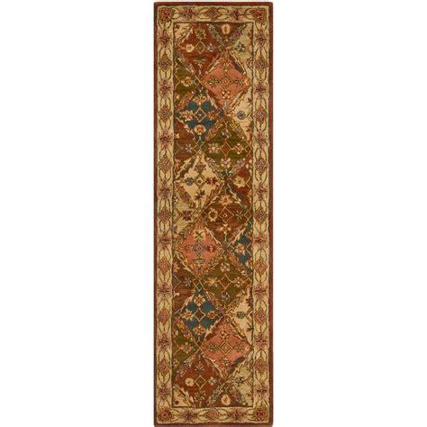 safavieh rug runners safavieh heritage beige 2 ft 3 in x 14 ft rug runner