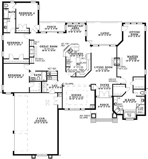 sprawling  bedroom  florida ranch photo