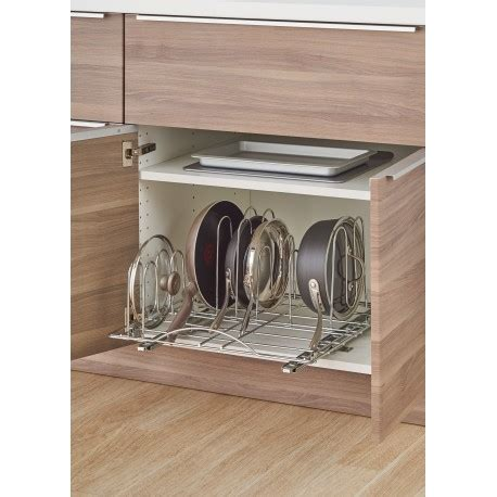 pot and pan cabinet organizer sliding pot organizer stop those pots and pans