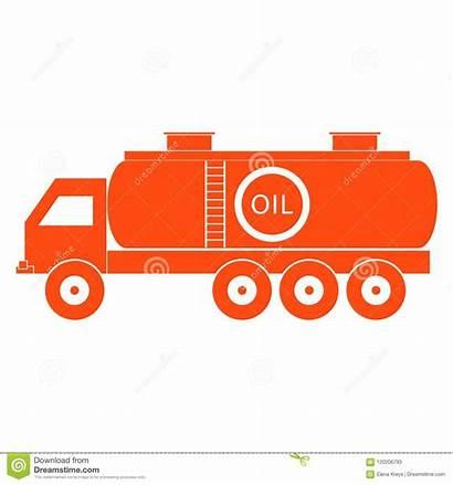 Tanker Oil Fuel Icon Autocisterna Stylized Stilizzata