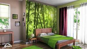 collection 4murs decors numeriques xxl youtube With deco murale chambre ado
