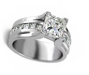 thick band engagement rings wide band princess cut engagement ring products engagement rings engagement rings with