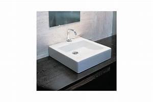 Vasque à Poser Design : vasque quadra class carr poser en c ramique blanche ~ Edinachiropracticcenter.com Idées de Décoration