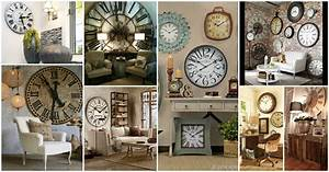 Impressive collection of large wall clocks decor ideas for Wall clock decorating ideas
