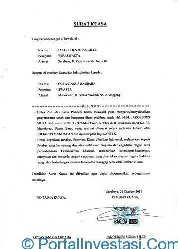 surat kuasa perkara perdata hutang piutang
