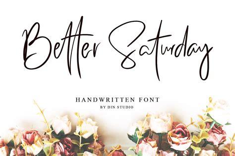 saturday script font befontscom