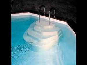 Rustine Piscine Sous L Eau : escalier piscine accelo poser directement dans l 39 eau youtube ~ Farleysfitness.com Idées de Décoration