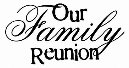 Reunion Words Clipart Clip Reunions Imagined Word