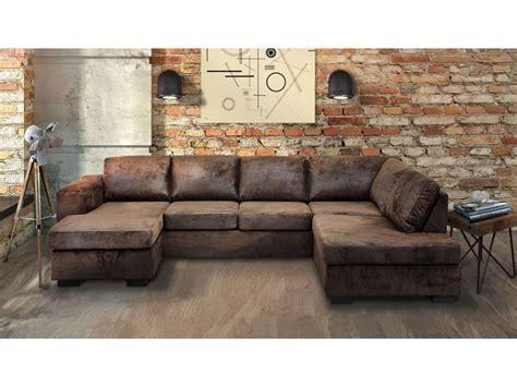 canapé d angle marron canapé angle gauche panoramique 8 places en tissu