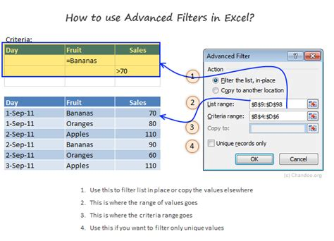introduction  excel advanced filters