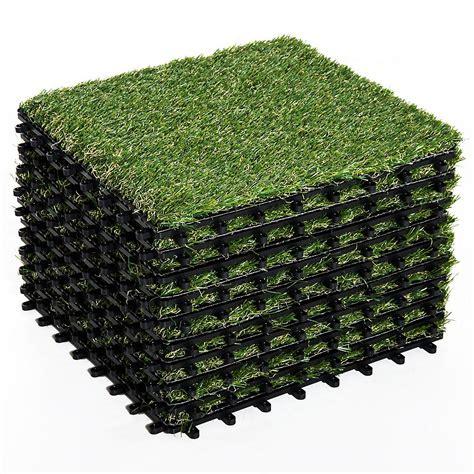 Kunstrasen Für Draußen by 10er Set Terrassenfliesen Kunstrasen Je 30x30 Cm Gr 252 N
