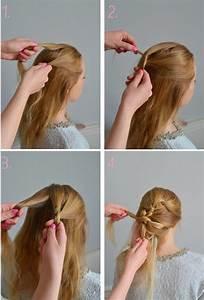 Tresse Facile à Faire Soi Même : coiffure facile faire seule coiffure facile et rapide coiffure simple et facile ~ Melissatoandfro.com Idées de Décoration