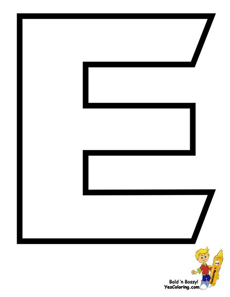 Coloring Letter E by Tenacious Transformers Alphabet Coloring Pages Alphabets