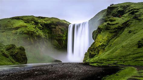 Download Wallpaper 3840x2160 Waterfall Landscape Rocks Moss 4k Uhd 169 Hd Background
