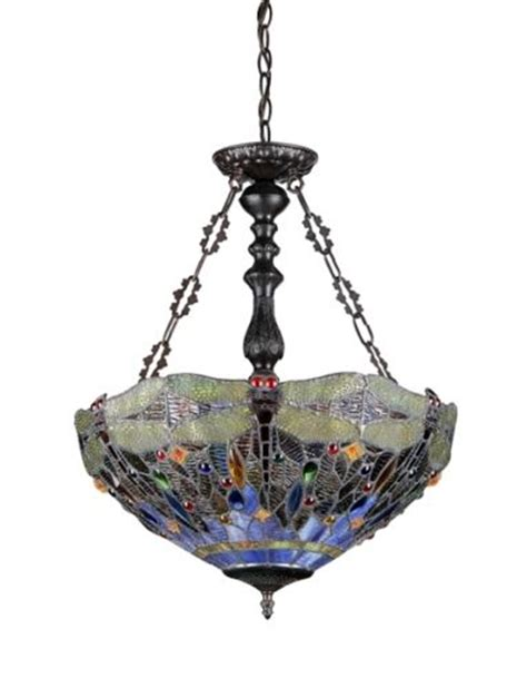 stained glass hanging light fixture new stained cut glass dragonfly hanging light fixture