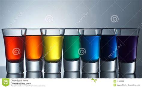 rainbow shots royalty  stock  image